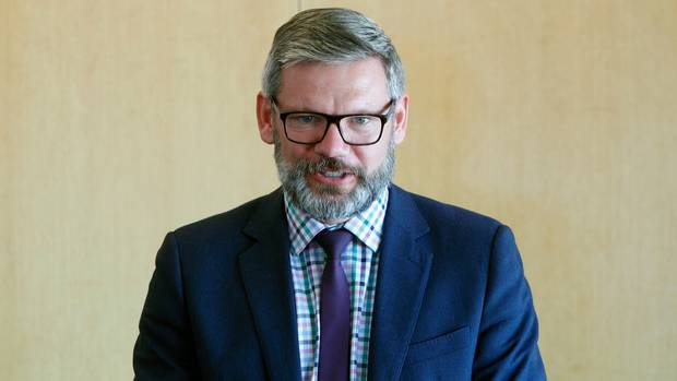 Immigration Minister Iain Lees-Galloway was in Whanganui's announcing the city as a new refugee resettlement location. Photo/ Stuart Munro