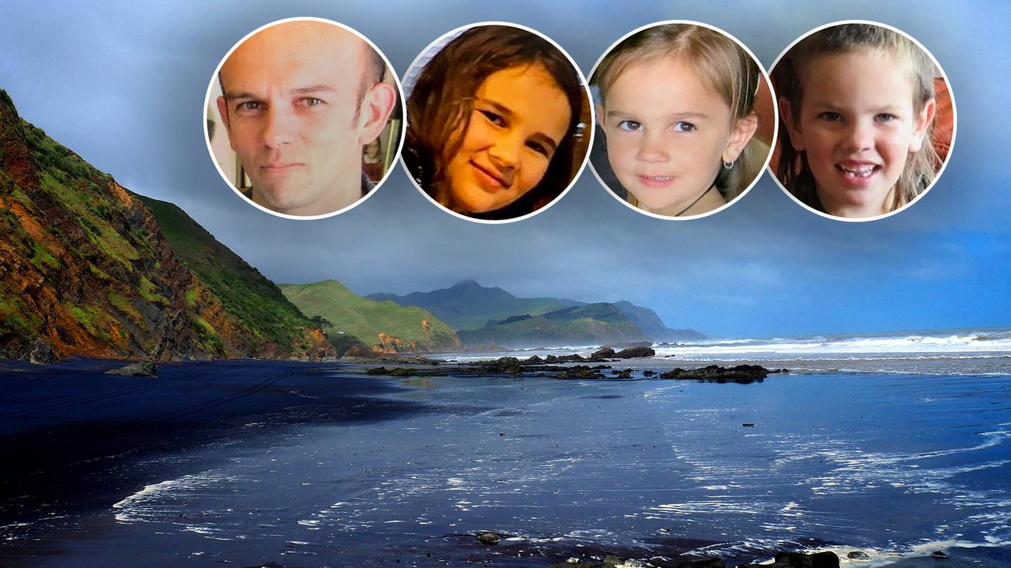 Thomas Phillips and his children Jayda Phillips, Ember Phillips and Maverick Callam-Phillips. Photos / Pauline Sallet and Supplied