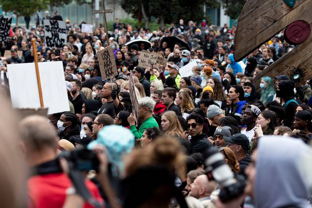 Thousands of people attended the rally in central Auckland on Monday. Photo / Dean Purcell