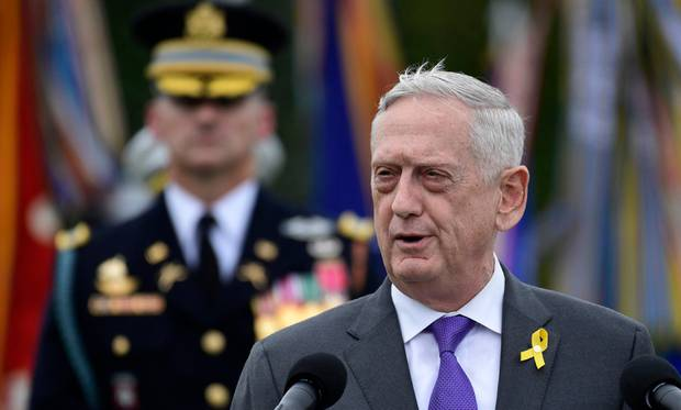 Defence Secretary Jim Mattis is leaving in February, and he didn't have many words of praise for President Trump in his resignation letter. Photo / AP
