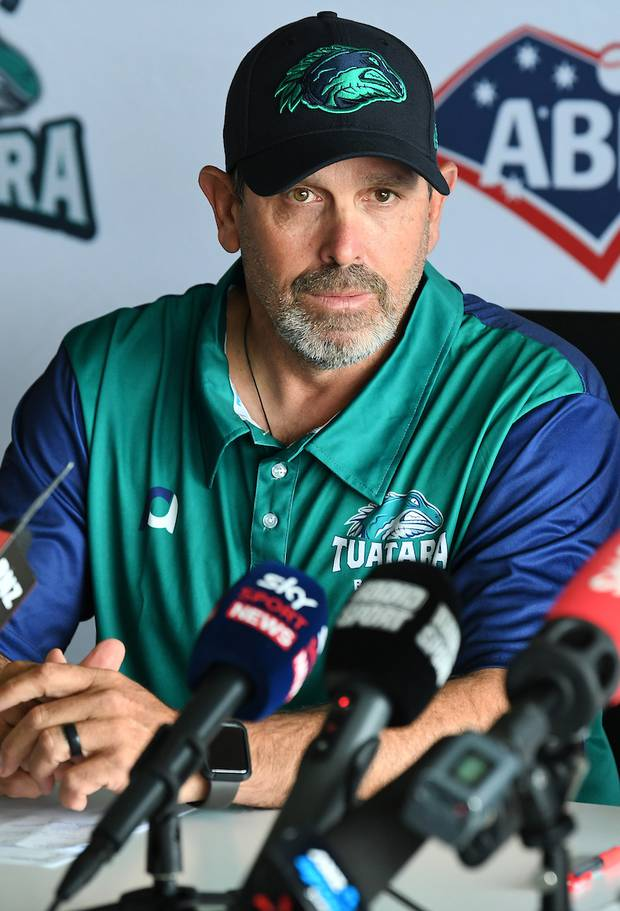 Devastated Tuatara manager Steve Mintz at the press conference...