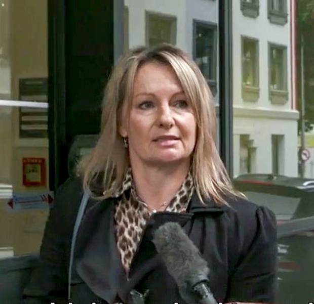 Nicola Jenks outside the Auckland District Court after she pleaded guilty to assaulting a girl she believed had bullied her daughter. Photo / NZME