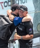Grant Dalton celebrates Team New Zealand's victory over Oracle Team USA. Photo / Ricardo Pinto