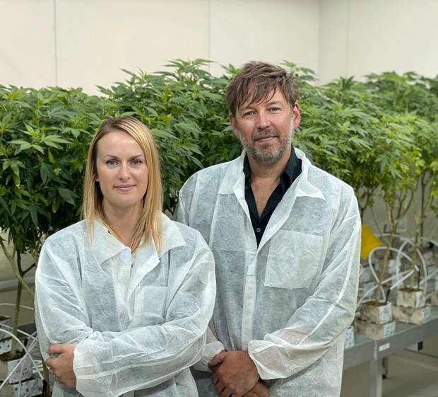 Leila de Koster and Paul Manning in the East Tamaki facility. Photo / supplied