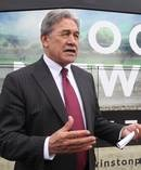 Winston Peters NZ First leader, before boarding his bus. Photo / Warren Buckland