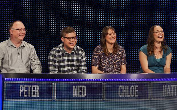 The French family test their smarts on an episode of The Family Chase. Photo / ITV/REX/Shutterstock