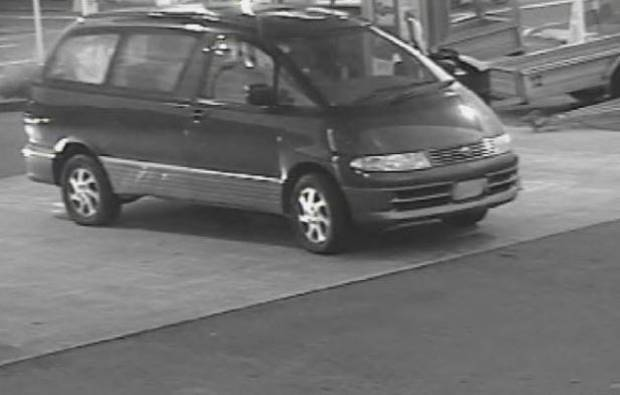 The dark blue people-mover of interest in a homicide inquiry after an alleged dash from Dunedin to Picton early on February 5. Photo / Supplied