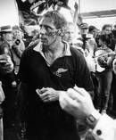 Bloodied and tired, All Black captain Wayne Shelford leaves Concord Oval, Sydney, at the end of his team's overwhelming victory. Photo / Herald Archive
