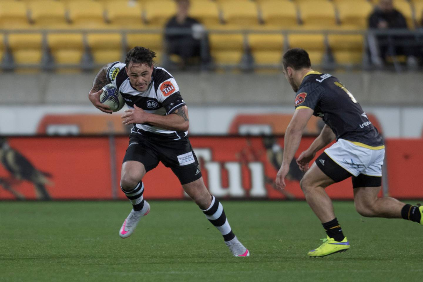 Zac Guildford in action against the Wellington Lions in 2015. Photo / Darren Taumata.