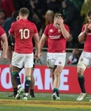 Lions players react after their loss to the All Blacks at Eden Park. Photo / Brett Phibbs