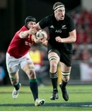 Brodie Retallick was one of the stars for the All Blacks last night. Photo / Alan Gibson.