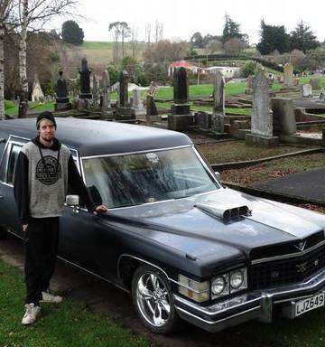 A ride to die for: Cruising around Oamaru in a Cadillac