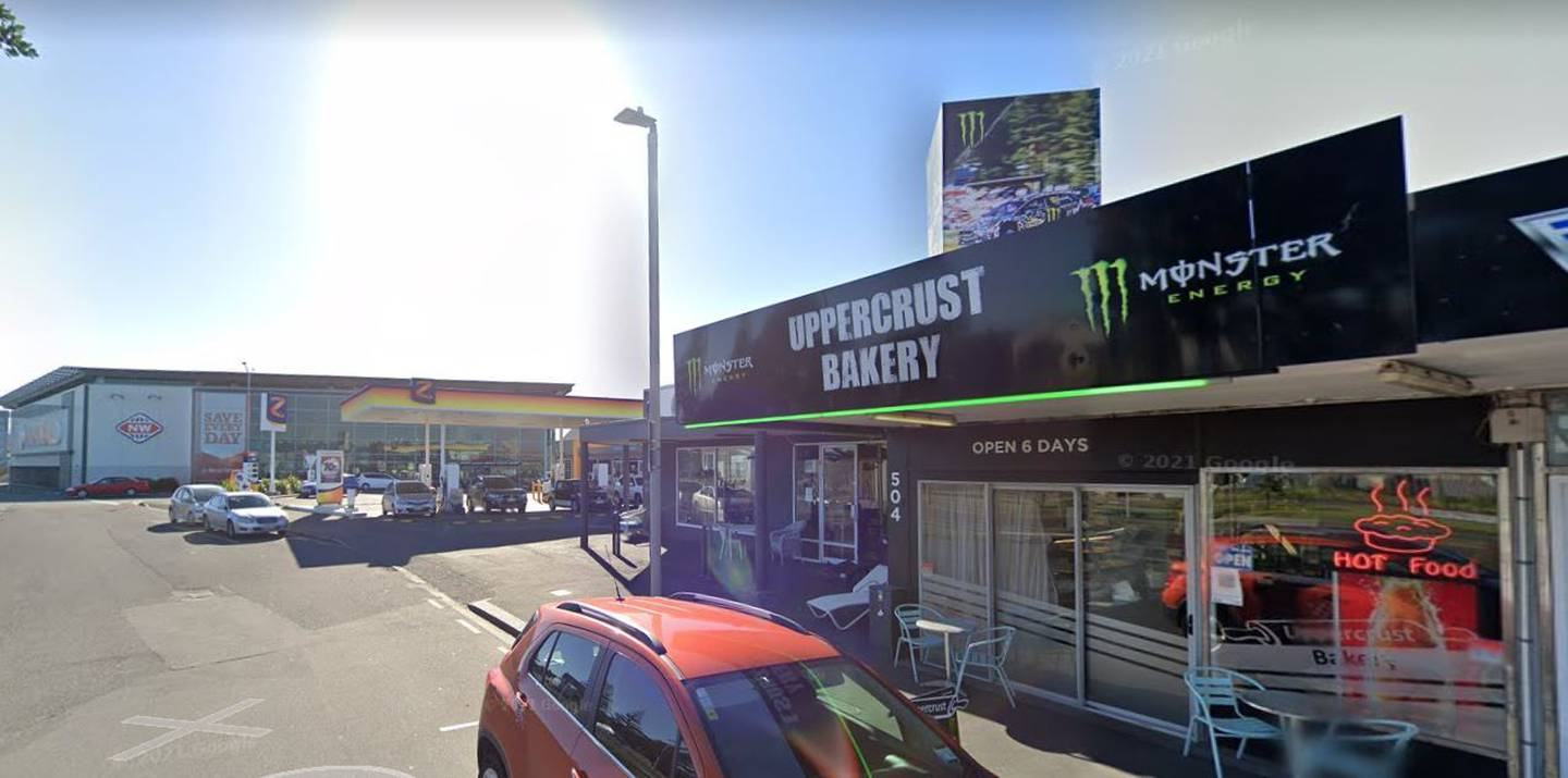 The Uppercrust Bakery in Mt Maunganui has been linked to a Covid case twice this past week. Image / Google