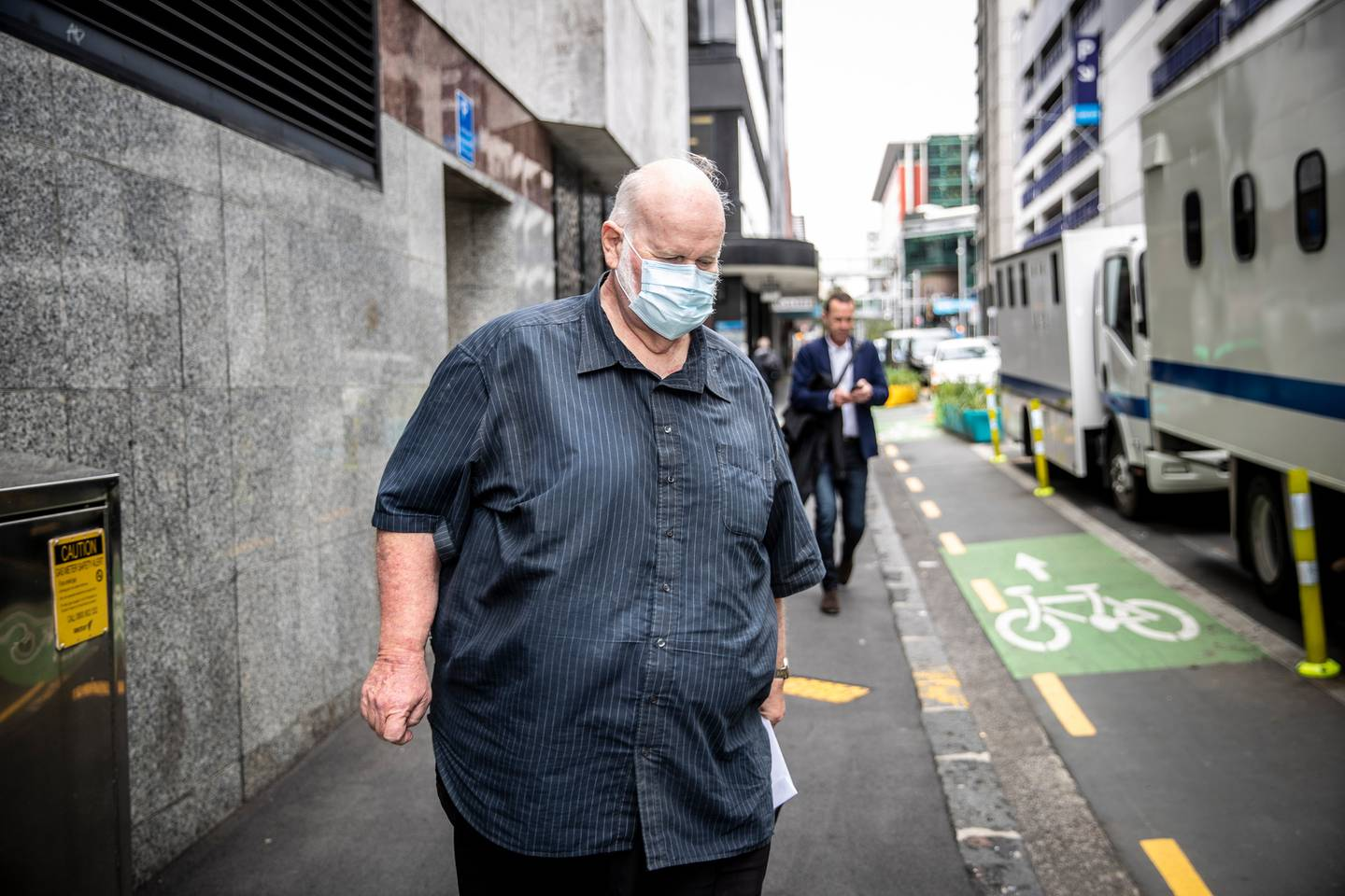 Ross Browne outside the Auckland District Court in 2020. Photo / Michael Craig