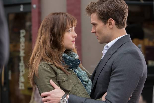 Fifty Shades of Grey stars Dakota Johnson and Jamie Dornan. Photo / TimeOut