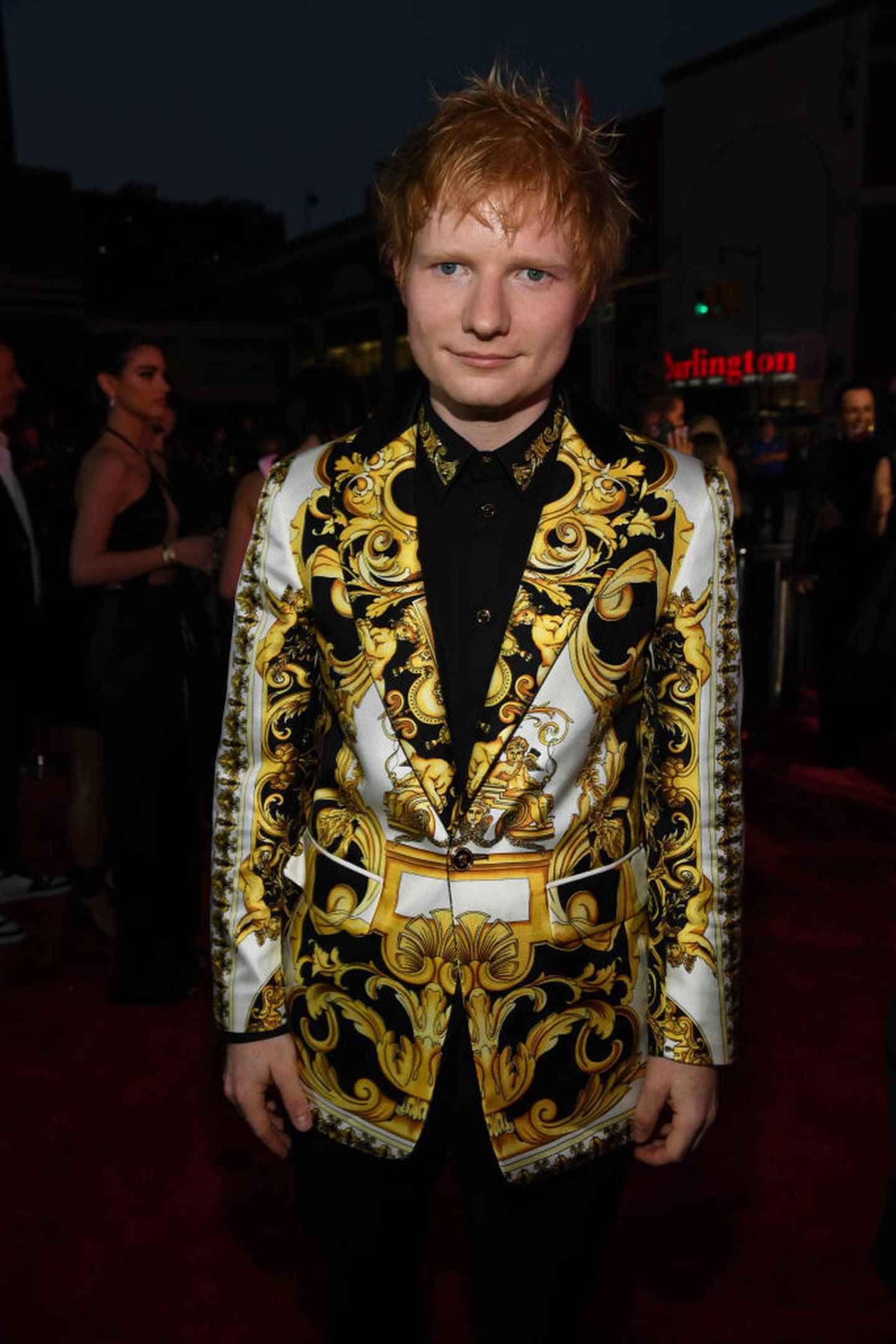 Ed Sheeran really took a gamble with that jacket and we're not sure if it paid off. Photo / Getty