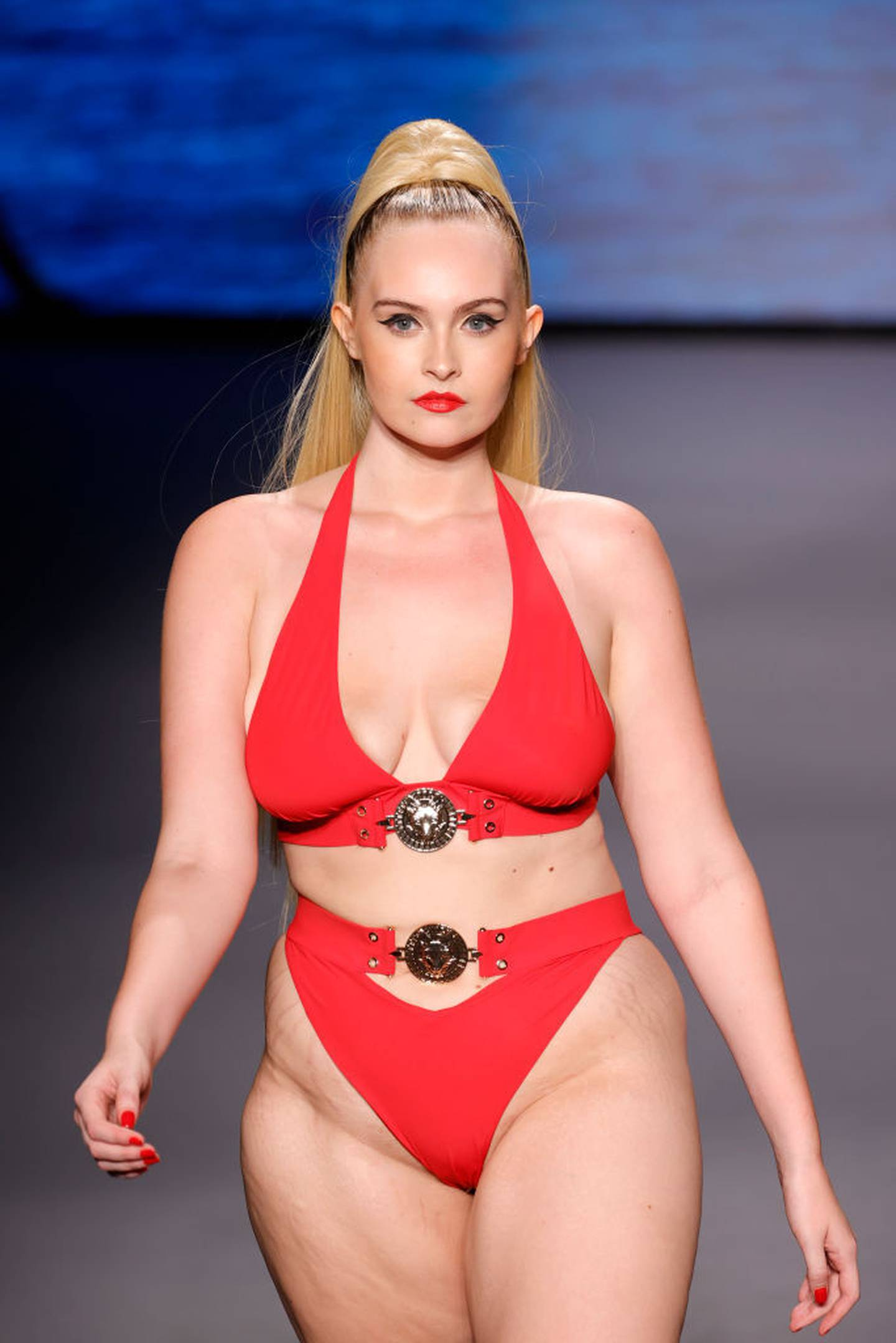Global e-tailer PrettyLittleThing featured 28 models 'of all shapes, sizes and walks of life' in the show. Photo / Getty Images