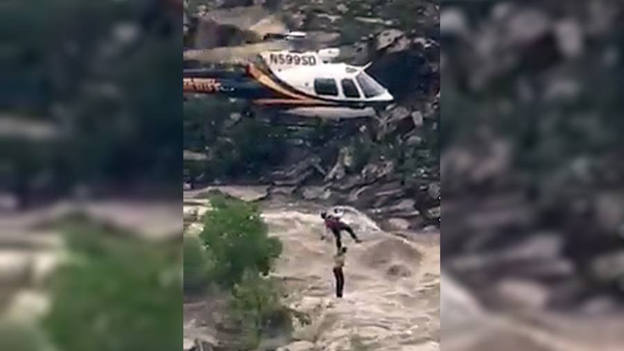 Last 2 hikers stranded by flooding are rescued
