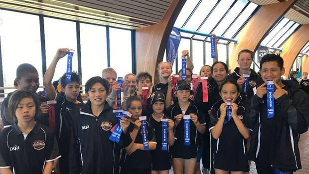 Swim Rotorua athletes managed 79 top-three placings at the Swimming Bay of Plenty Classic. Photo / Supplied