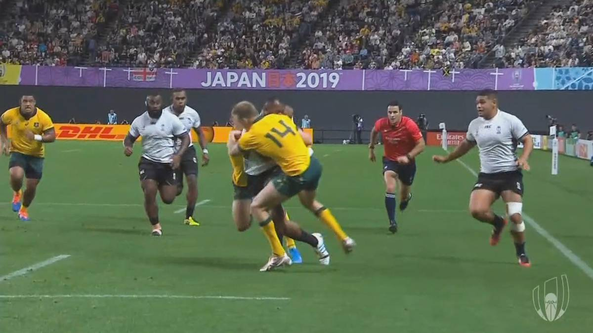 Wallabies star gets away with shoulder charge