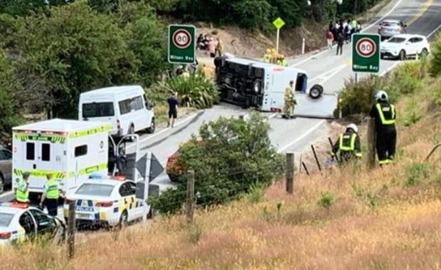 The scene of the crash. Photo / James Allan