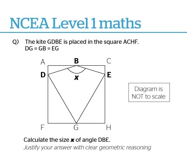 Can you answer these NCEA level one maths questions?