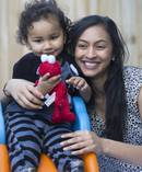 Sonam Sharma, a young solo mother who is fighting with immigration for her mother to visit from Fiji and meet her grandson, Aryon. Photo / Nick Reed