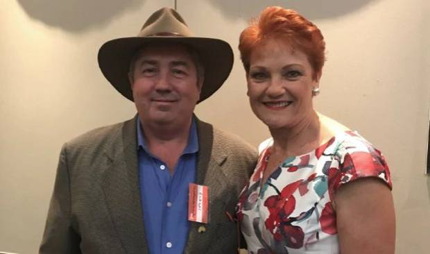 Rodger Muller pictured with One Nation leader Pauline Hanson. Photo / via Al Jazeera