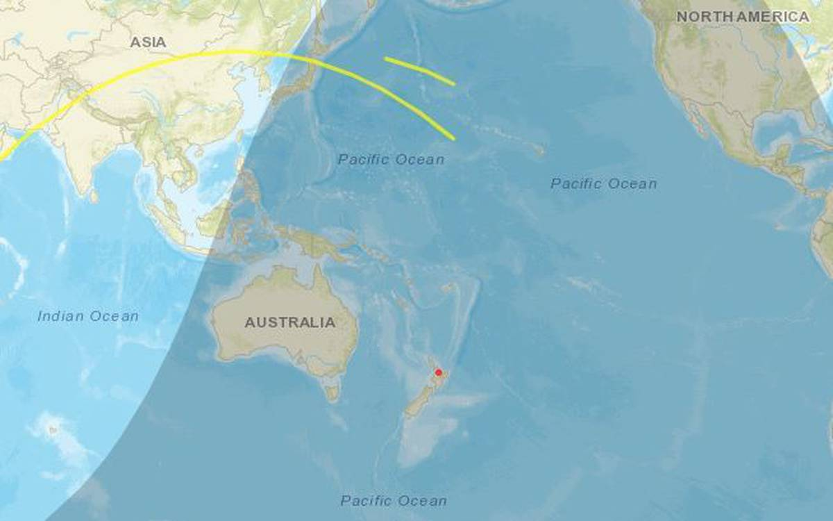 China's space station plummeting towards earth will crash near NZ - today