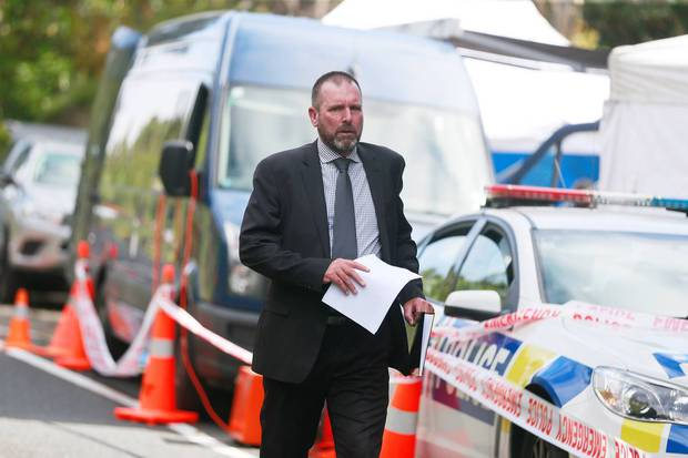 Detective Inspector Scott Beard, the officer in charge of the case, in the Waitakere Ranges where Grace Millane's body was found. Photo / Doug Sherring