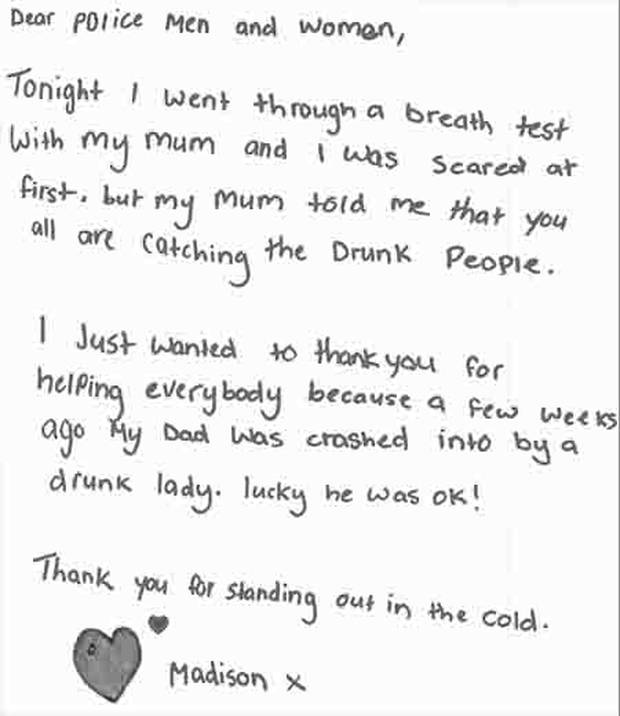 Kiwi Girl Whose Dad Was Hit By Drunk Driver Pens Adorable Letter To