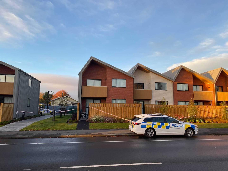 The housing complex in Christchurch where Daniel Hawkins died.
