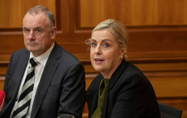 Speaker Trevor Mallard and reviewer Debbie Francis last week released an independent review of bullying and harassment at Parliament. Photo / Mark Mitchell