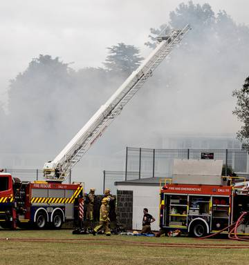 Fire-gutted Auckland Normal Intermediate School faces
