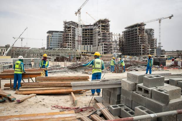 Around 40,000 construction workers are on the site of Expo 2020 Dubai. Photo / Jason Oxenham