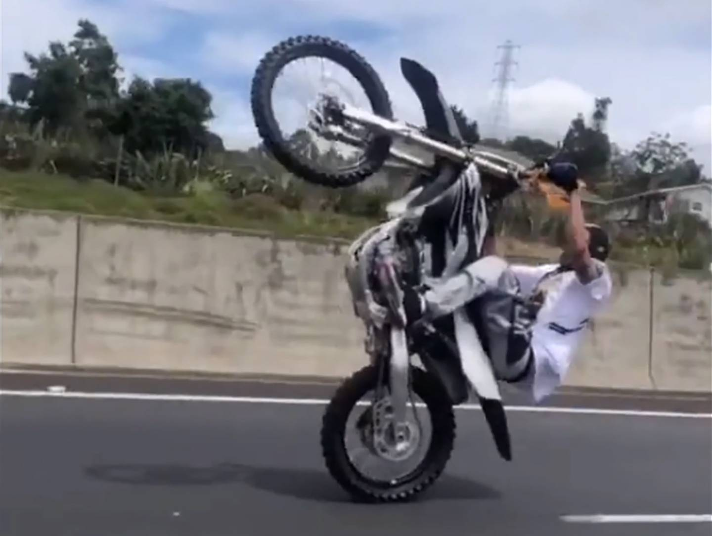 More footage has emerged of the dirt bike riders who rode through parts of Auckland over the weekend. Image / Supplied