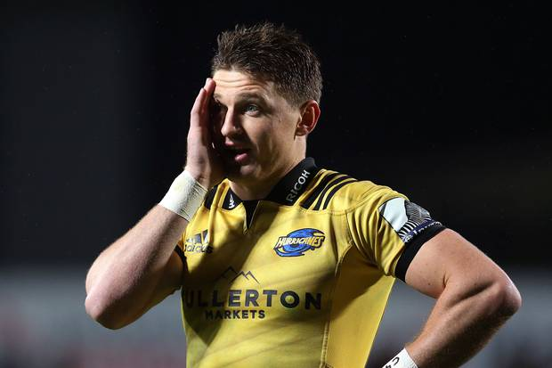 Beauden Barrett could make an earlier than expected comeback for the Hurricanes against the Crusaders. Photo / Photosport