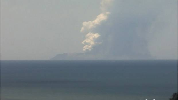 White Island active volcano Bay of Plenty 09 December 2019 series of pictures showing an eruption 2:20pm picture supplied credit: GEONET