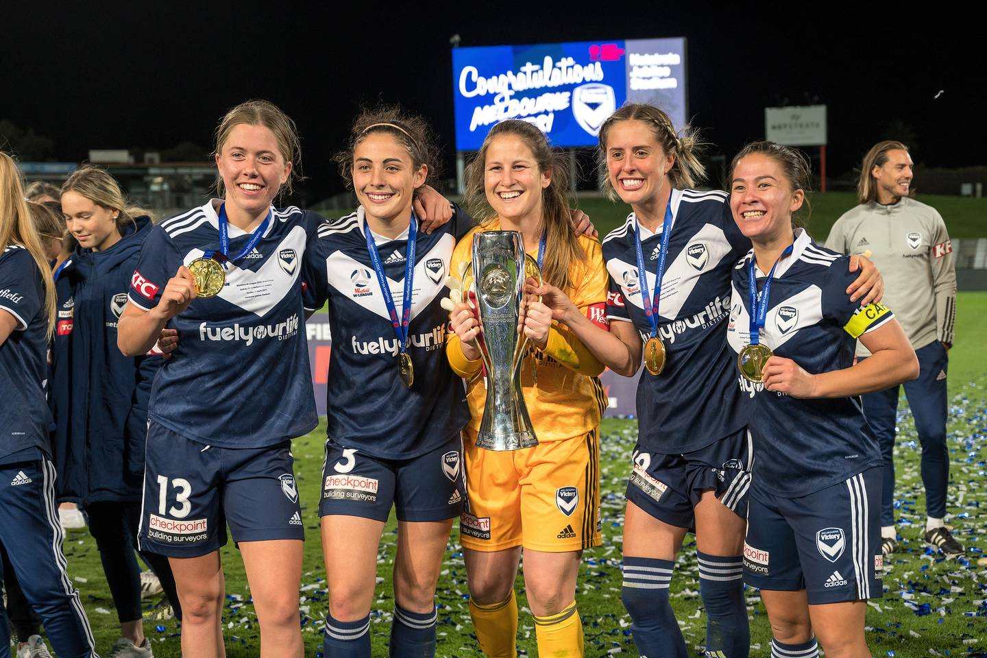 Melbourne Victory celebrate after winning the W-League grand final in April. Photo / Photosport