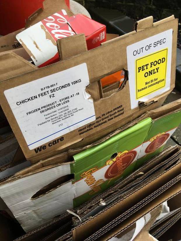 A woman in Invercargill became concerned when she discovered a box in a restaurant's recycling labelled