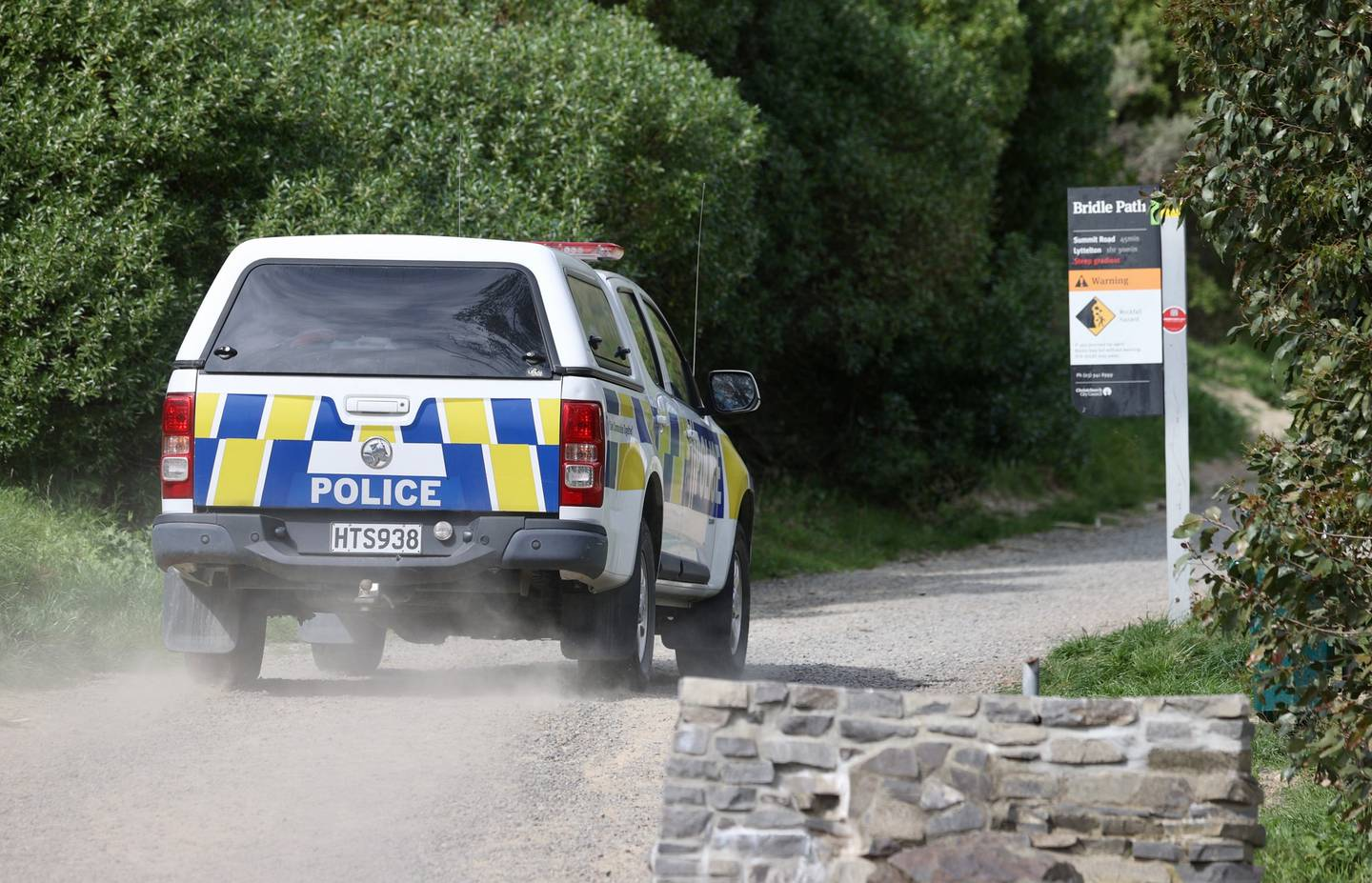 A police spokesperson confirmed a body had been located in Christchurch's Port Hills this morning. Photo / George Heard