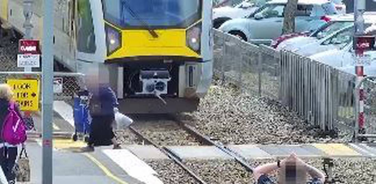 Video of chilling near-misses at railway crossings to promote safety