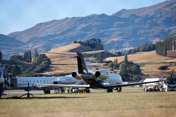 There has been an increase in private jets arriving at Queenstown airport. Photo / James Allen