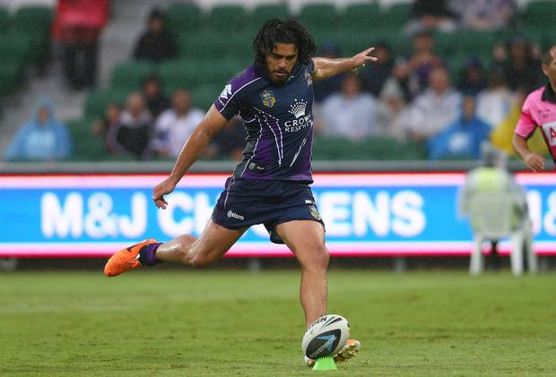 Tohu Harris has shown his ability as a playmaker and a kicker at the NRL level. Photo / Getty Images