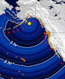 Photo / Supplied via U.S. National Tsunami Warning Center