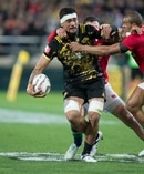 Hurricanes flanker Vaea Fifita on attack. Photo / Mark Mitchell