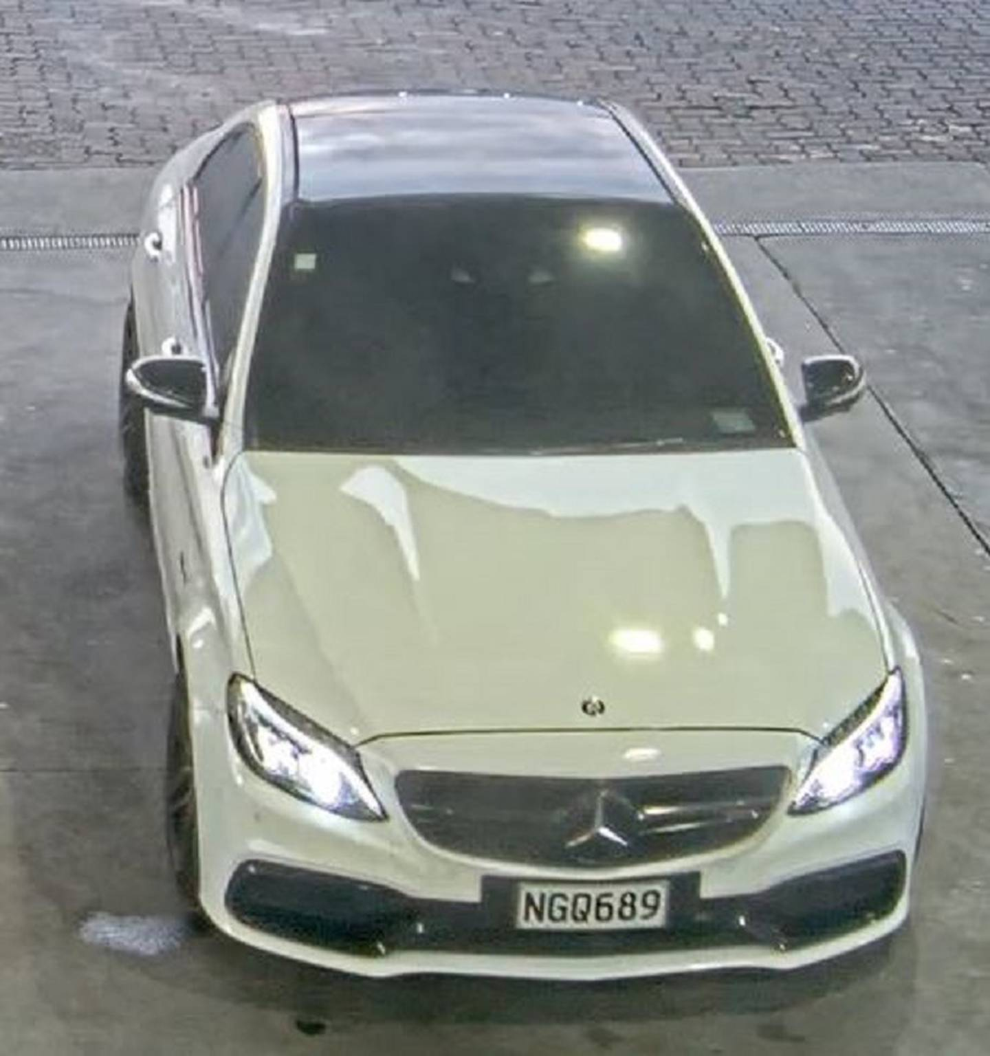 Police want information on a white Mercedes C-63 Saloon car with the registration NGQ689. Photo / NZ Police