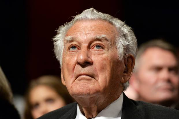 Former Australian Prime Minister Bob Hawke. Photo / AP