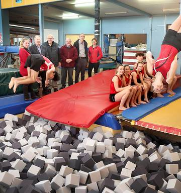Gymnastics: New foam for the pit at Wanganui Boys & Girls