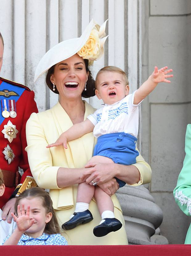 Prince Louis was excited by all the noise and the parade, to the delight of his parents. Photo / Getty Images